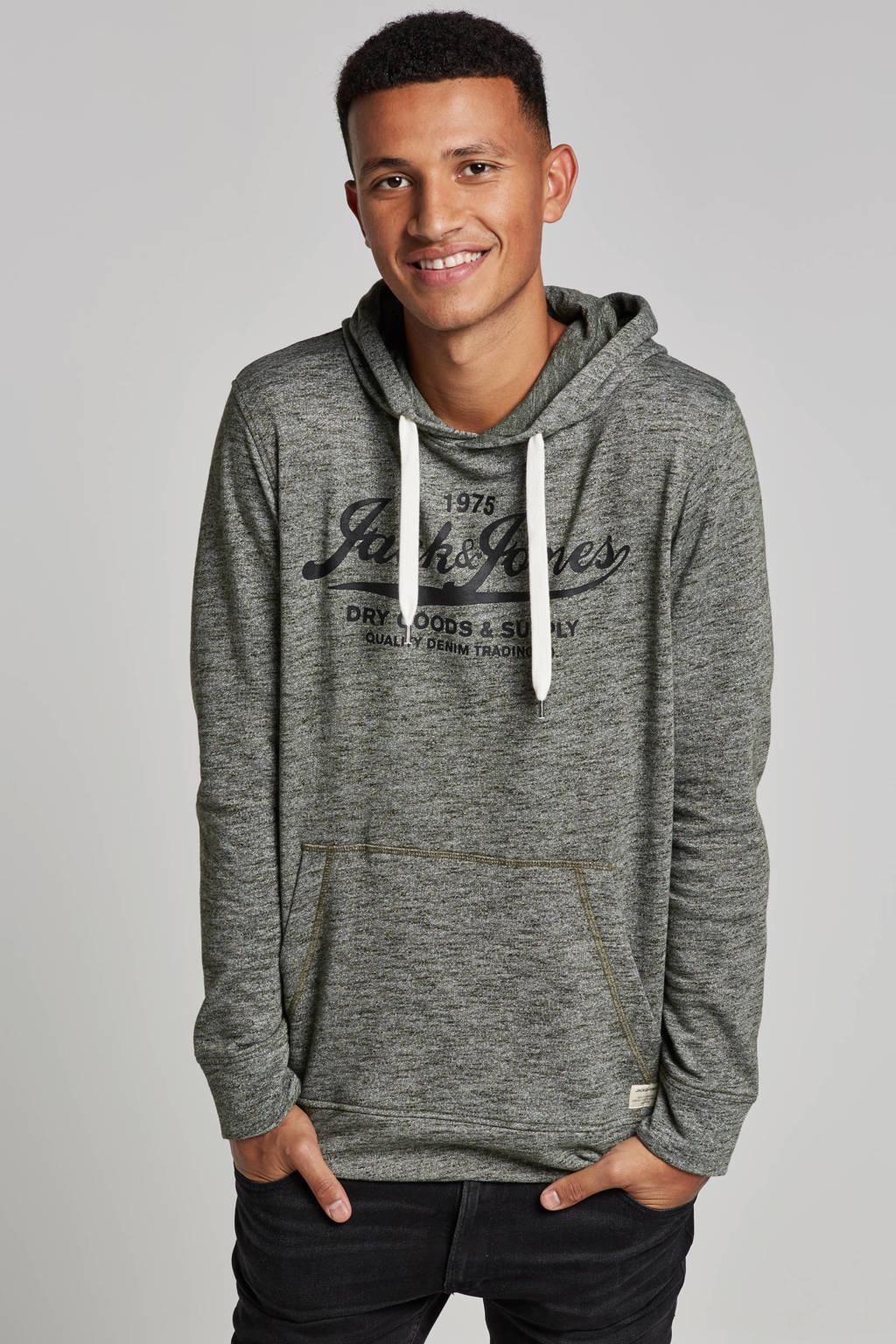 Jack & Jones Essentials hooded sweater, Groen