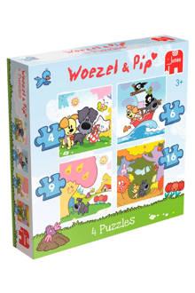 Woezel en Pip 4-in-1  vormenpuzzel 35 stukjes
