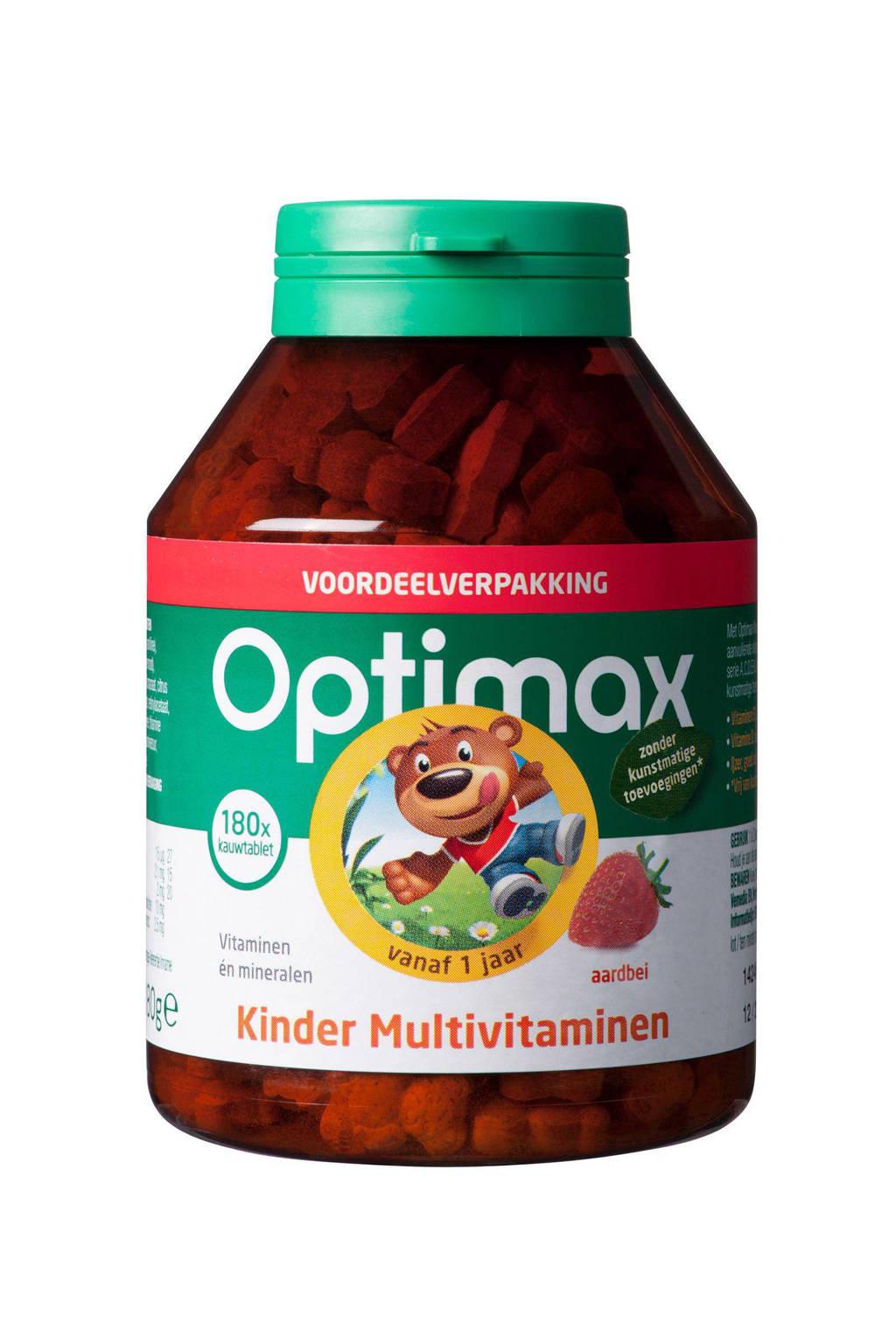 Optimax Kinder Multi Aardbei - 180 kauwtabletten, 180 stuks