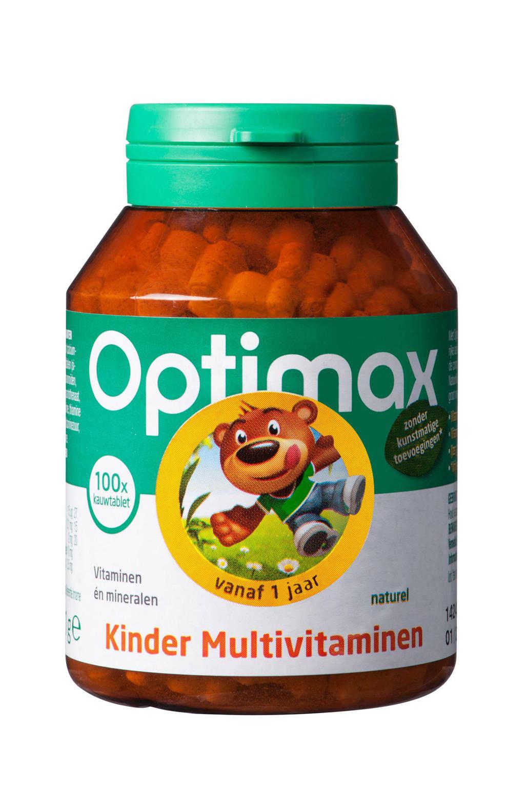 Optimax Kinder Multi Naturel - 100 kauwtabletten, 100 stuks, Neutraal