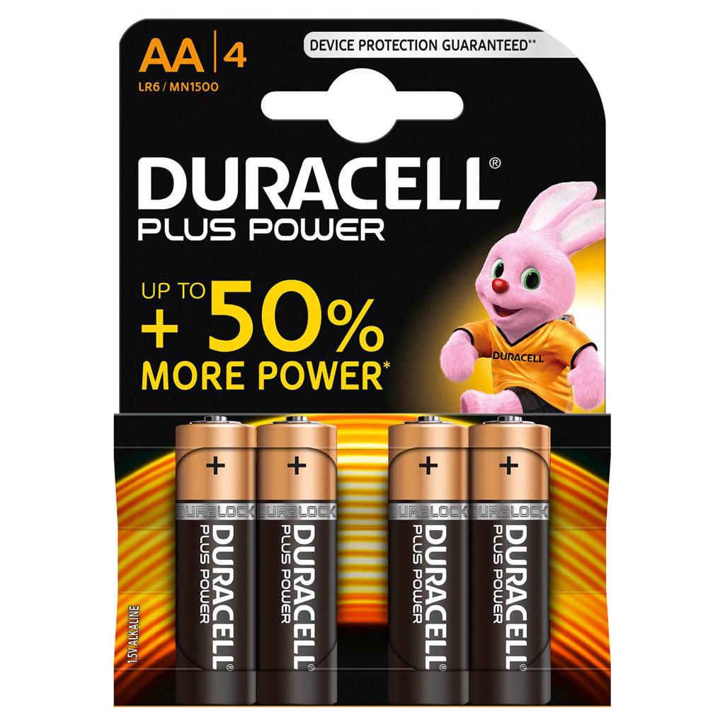 Duracell  Plus Power AA alkalinebatterijen 4-pack