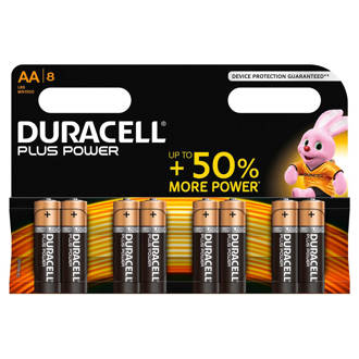 Plus Power AA alkalinebatterijen 8-pack
