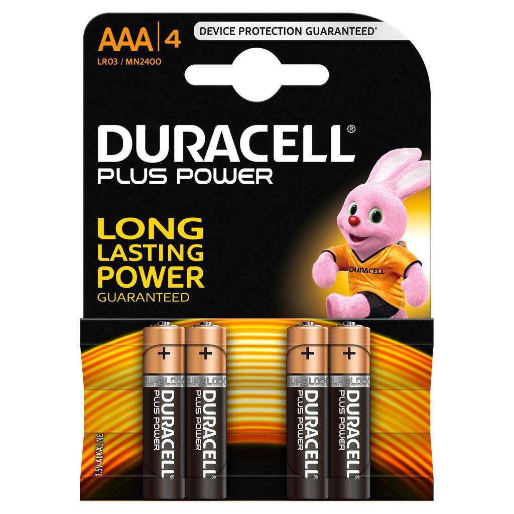 Duracell  Plus Power AAA alkalinebatterijen 4-pack