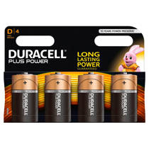 Duracell  Plus Power D alkalinebatterijen 4-pack