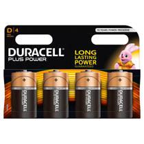Duracell  Plus Power D alkalinebatterijen 4-pack