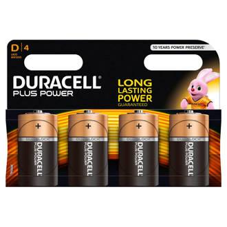 Plus Power D alkalinebatterijen 4-pack