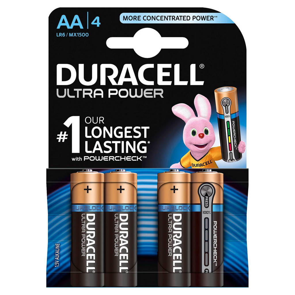 Duracell  Ultra Power AA alkalinebatterijen 4-pack