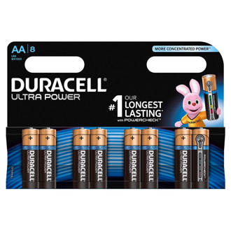 Ultra Power AA alkalinebatterijen 8-pack