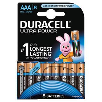 Ultra Power AAA alkalinebatterijen 8-pack