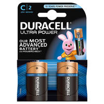 Duracell  Ultra Power C alkalinebatterijen 2-pack