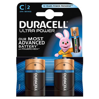 Ultra Power C alkalinebatterijen 2-pack
