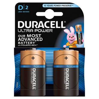 Ultra Power D alkalinebatterijen 2-pack