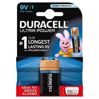 Ultra Power 9V alkalinebatterij 1-pack