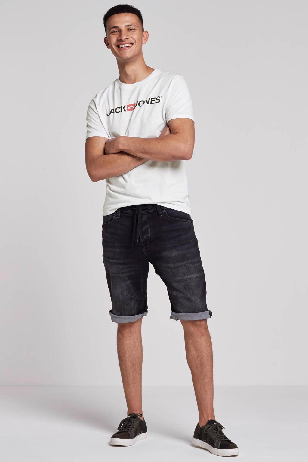 JACK & JONES ESSENTIALS T-shirt Jjecorp met logo wit, Wit