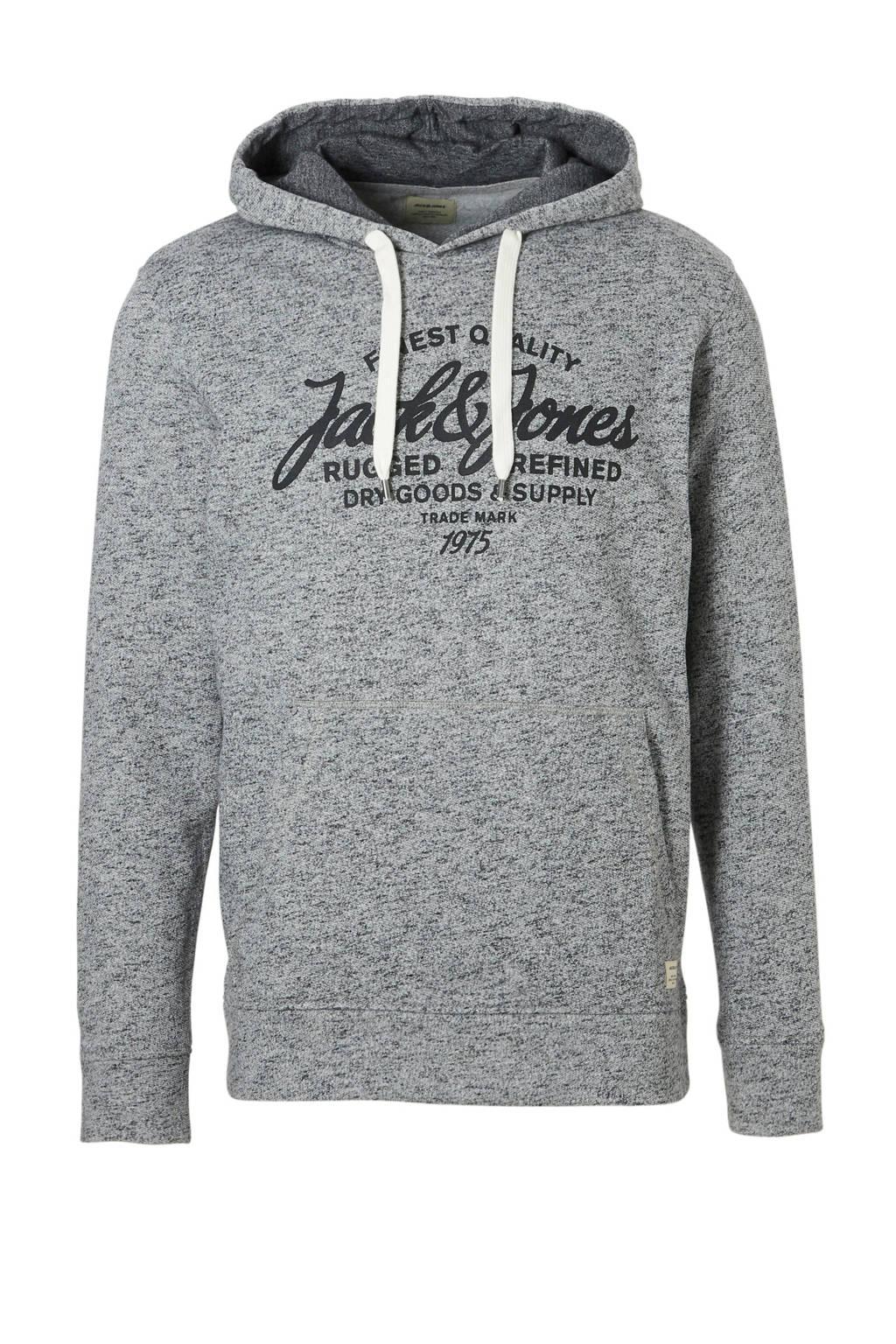Jack & Jones Essentials hooded sweater, Grijs