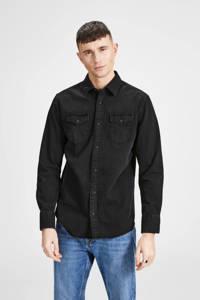 JACK & JONES ESSENTIALS Sheridan slim fit overhemd, Black denim