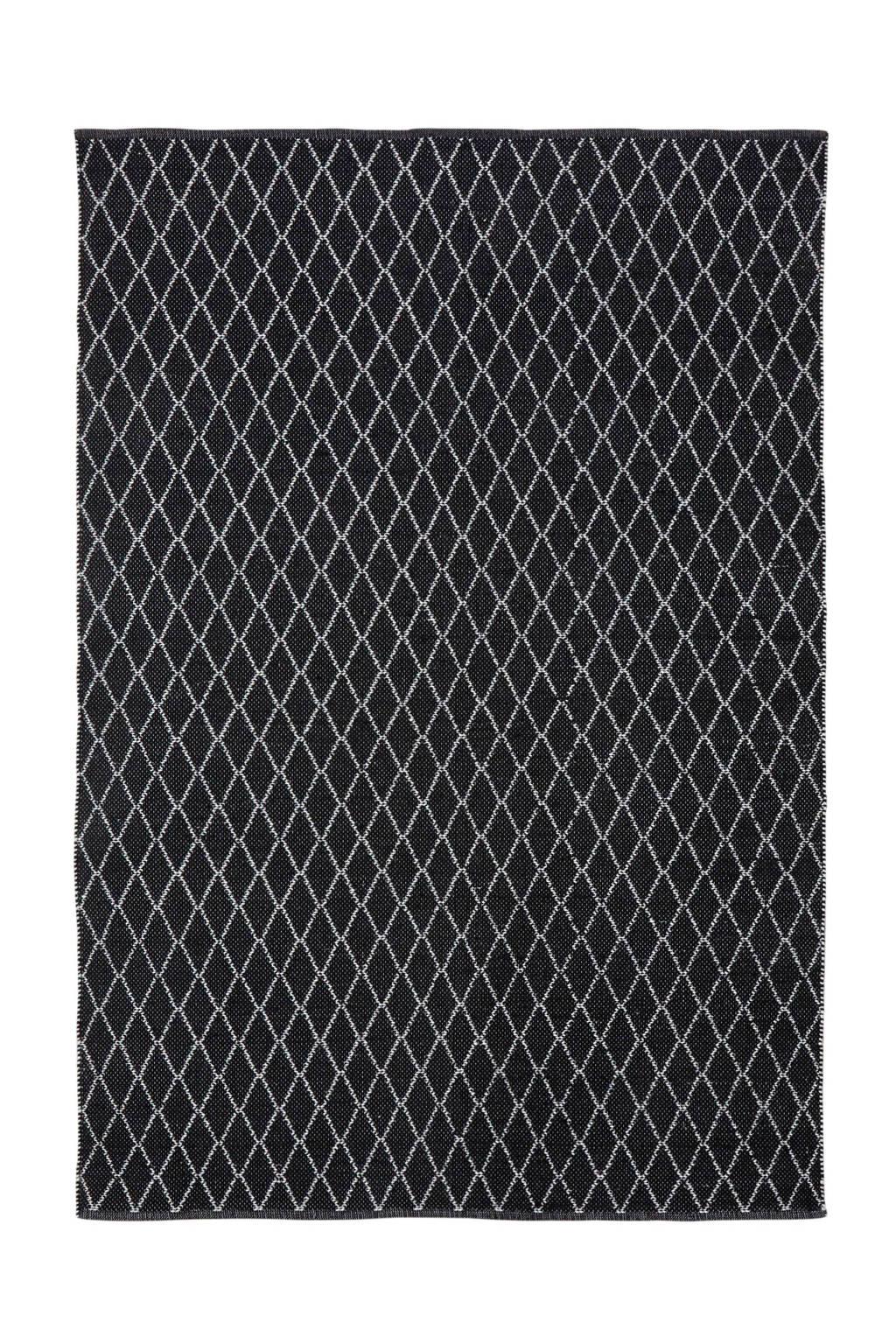whkmp's own Vloerkleed  (230x160 cm), Zwart/wit