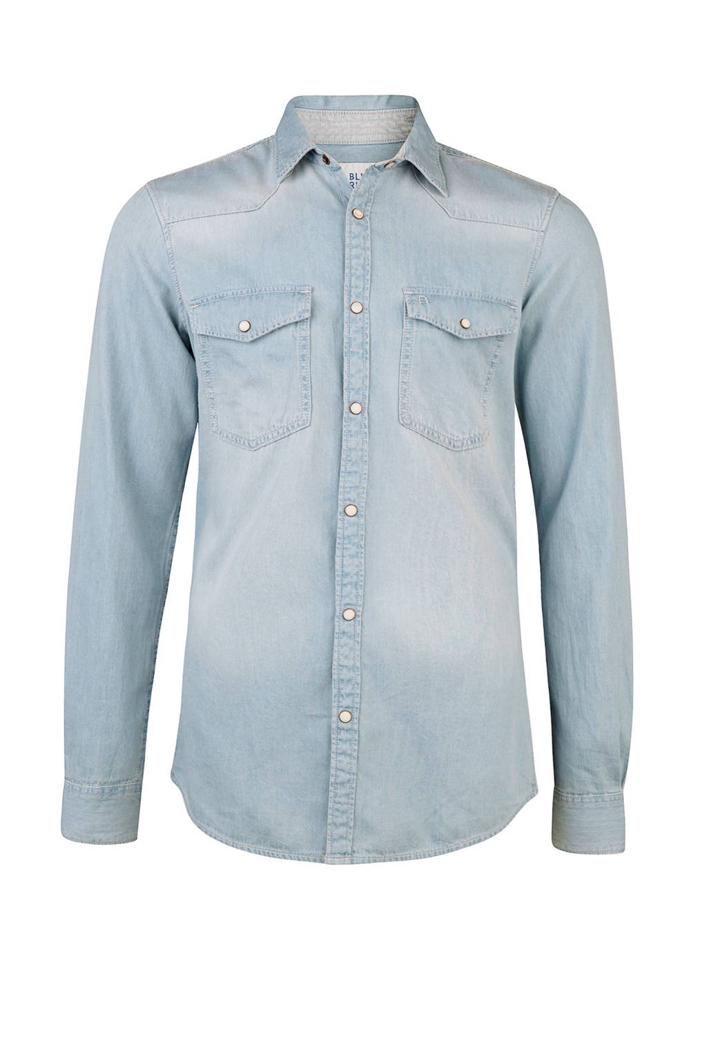 Spijkerstof Overhemd.We Fashion Blue Ridge Denim Overhemd Wehkamp