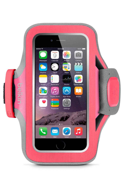 Belkin iPhone 6(s) SlimFit sportarmband, Roze