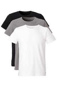 Tommy Hilfiger T-shirt (set van 3) zwart/grijs/wit, Zwart/grijs/wit