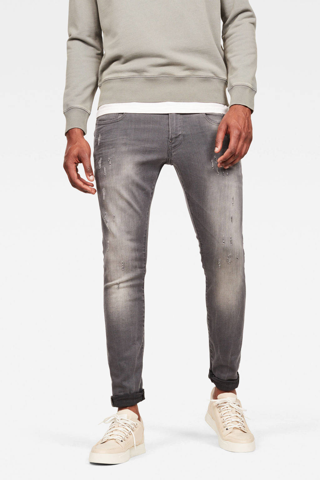G-Star RAW Revend super slim fit jeans it aged destroy defend, light aged destroyed