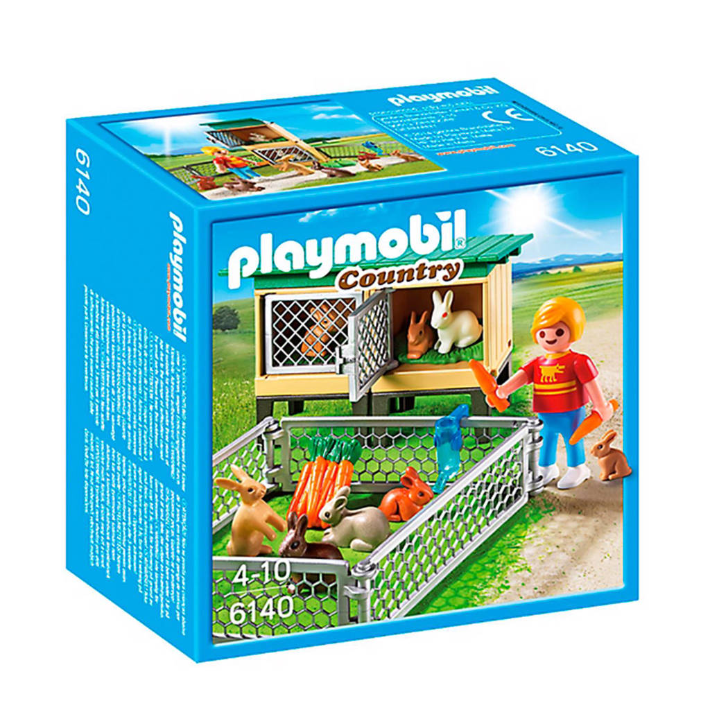 Playmobil Country konijnenhok met buitenren 6140