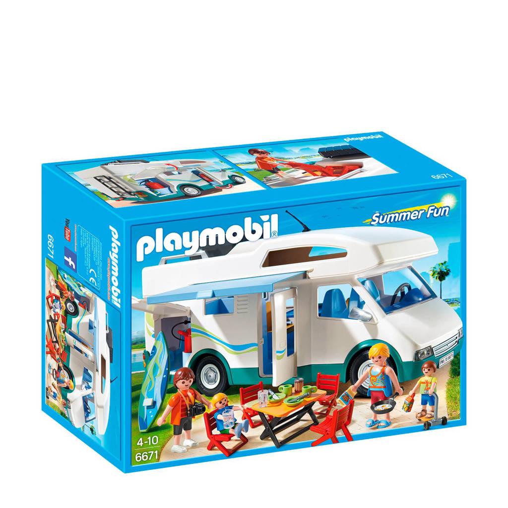 Playmobil Summer Fun grote familie camper 6671