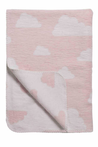 Little Clouds wiegdeken 75x100 cm roze