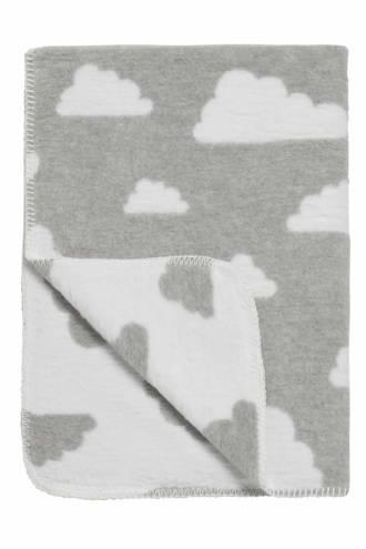 Little Clouds wiegdeken 75x100 cm grijs