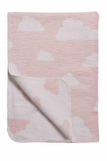 Little Clouds ledikantdeken 120x150 cm roze