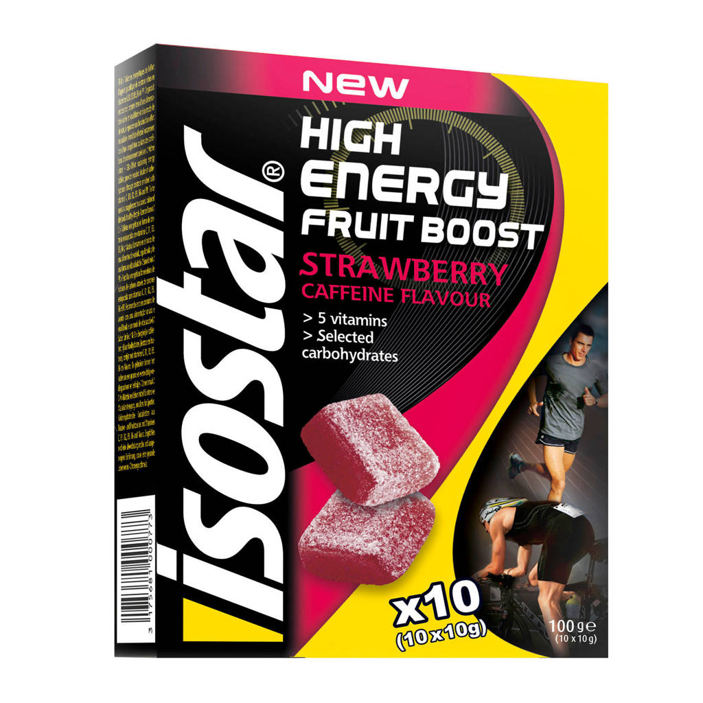 Isostar High Energy Booster Strawberrry - 1 pak met 10 stuks (10x10g)