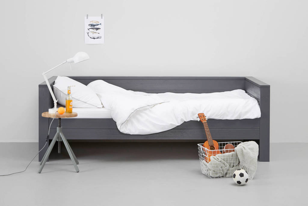 Woood bedbank Dennis (90x200 cm), Steel grey