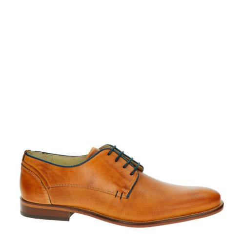 Nelson lage nette schoenen cognac