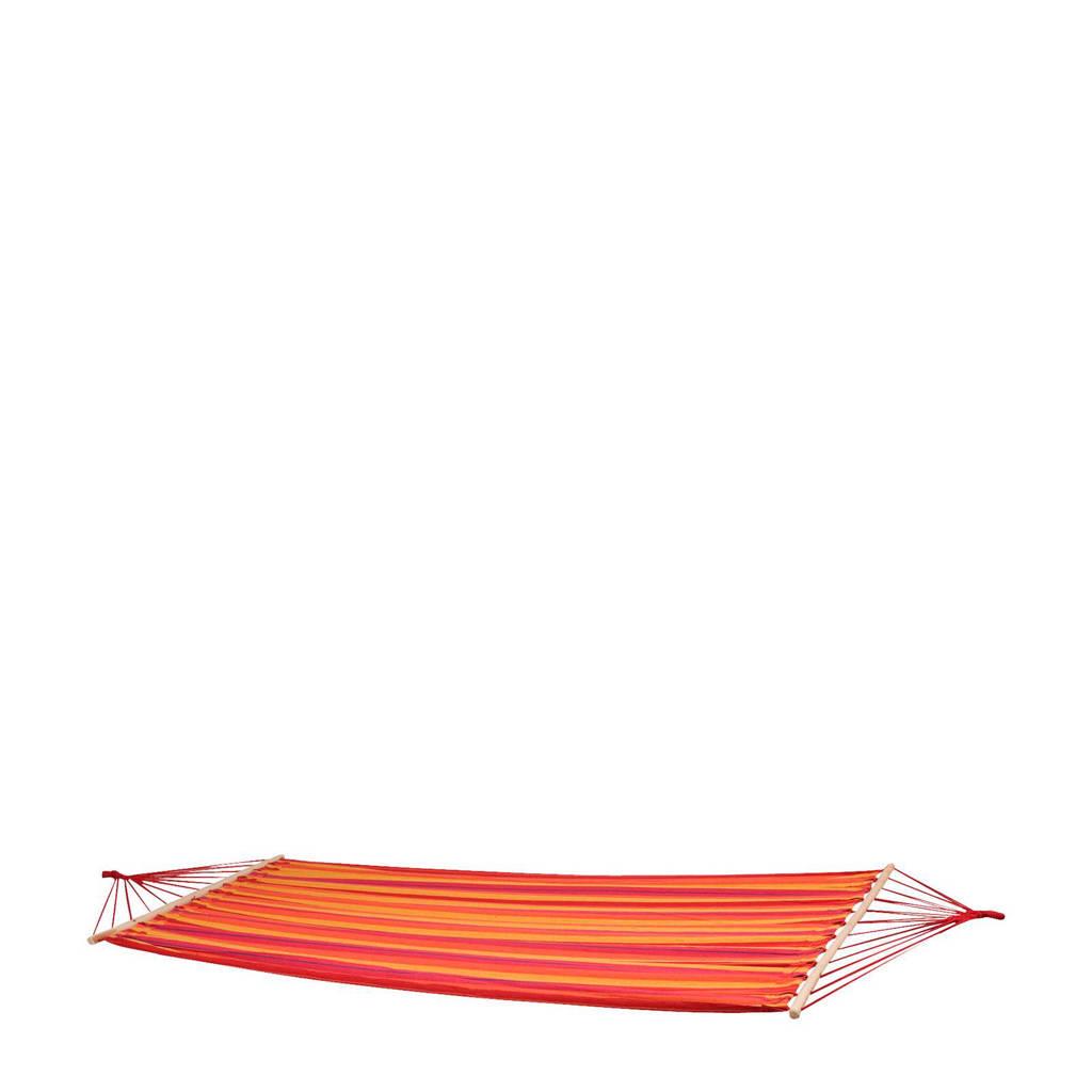 Bo-garden hangmat Santa Barbara (230x143 cm), Rood/oranje/geel