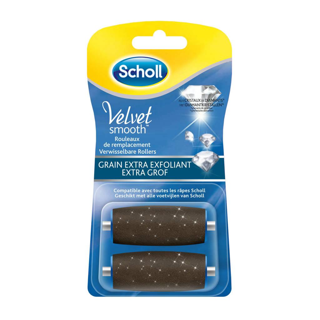 Scholl Velvet Smooth verwisselbare roller extra grof - 2 stuks