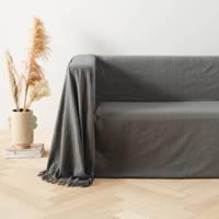 wehkamp home grand foulard (275x350 cm), Grijs/taupe