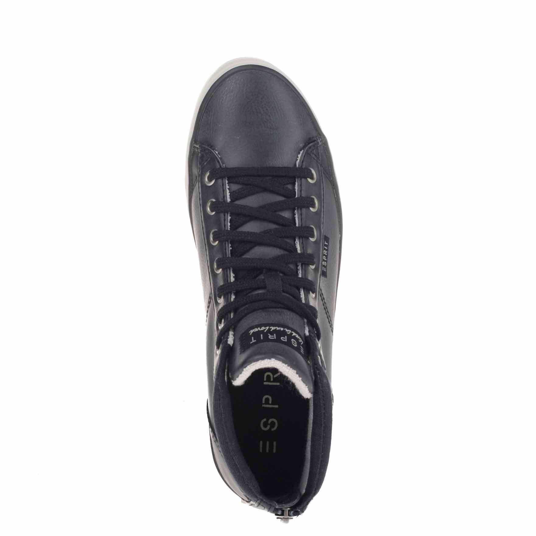 Chaussures Noires Esprit Avec Fermeture Éclair Pour Les Femmes sboH5FP8Tm