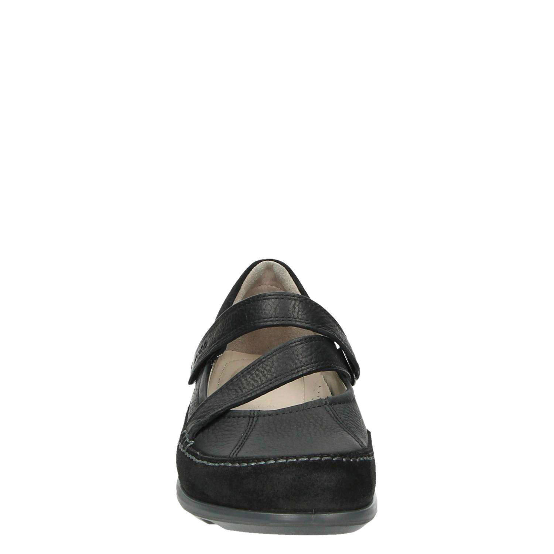 Ecco Comfort leren klittenbandschoenen | wehkamp