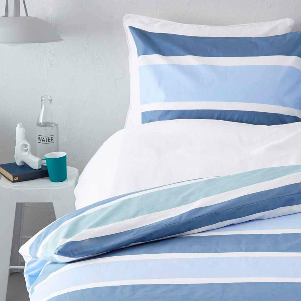 Cinderella katoenen dekbedovertrek lits.jum., rafblauw/groen/bleu/wit, Lits-jumeaux (240 cm breed)