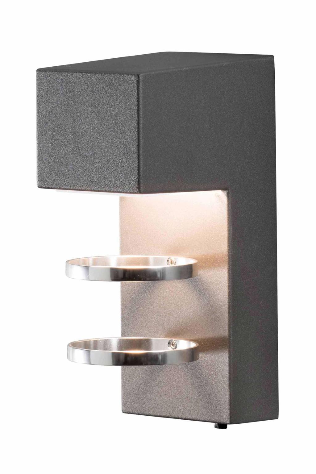 Konstsmide wandlamp Acerra, Antraciet
