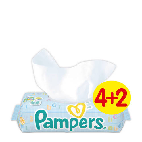 Pampers Billendoekjes Babydoekjes Fresh Clean Navulling 6x64stuk
