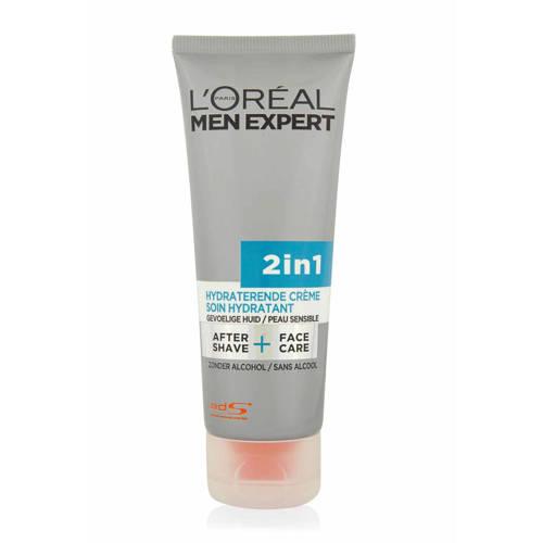 Loreal Men Expert 2in1 Aftershave + Face Care Gevoelige Huid 75ml