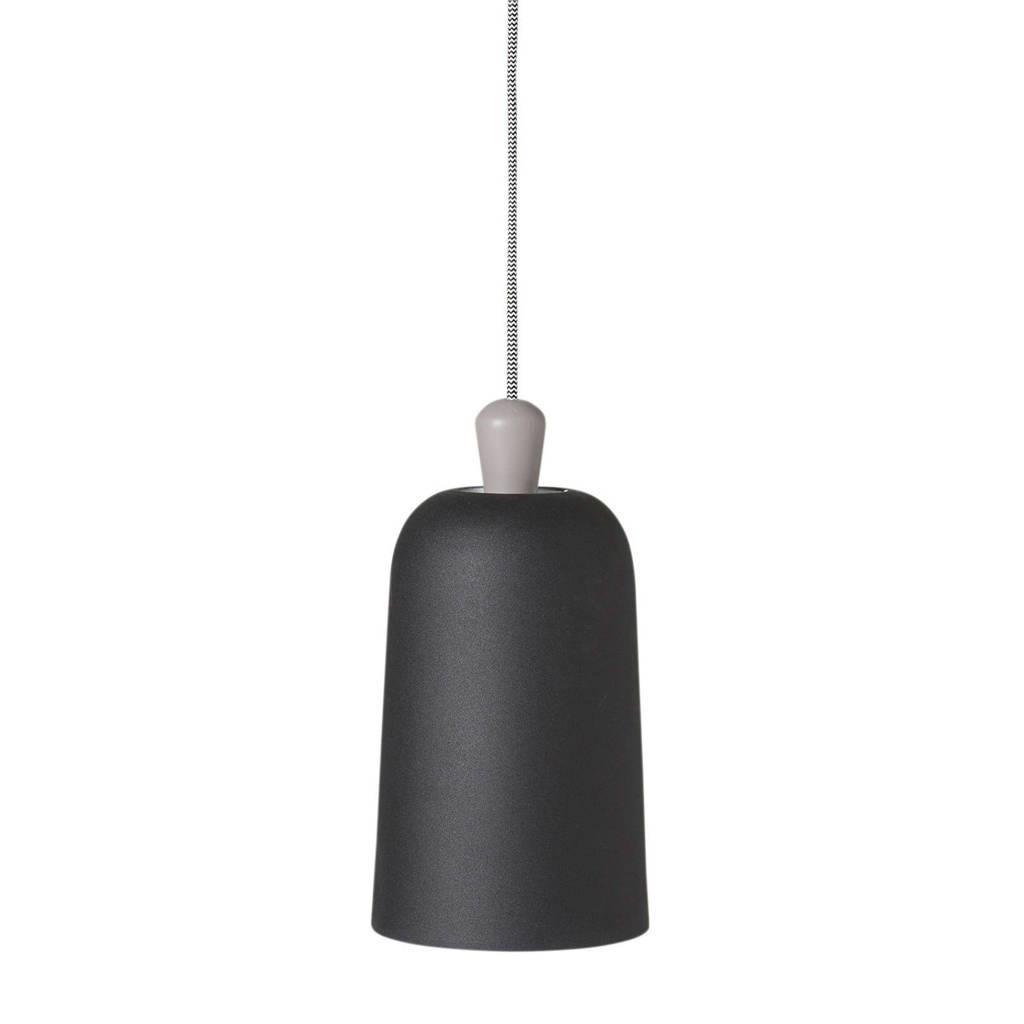 whkmp's own hanglamp, Mat zwart/grijs