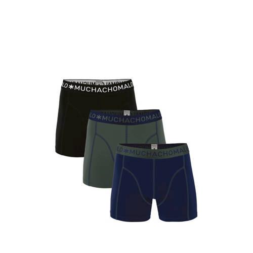 Muchachomalo boxershort -set van 3 donkerblauw/arm