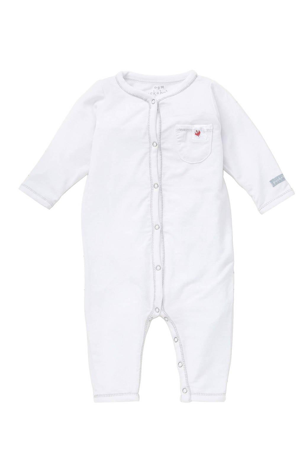 Puckababy   baby sleepsuit tencel 0-3 mnd, Wit