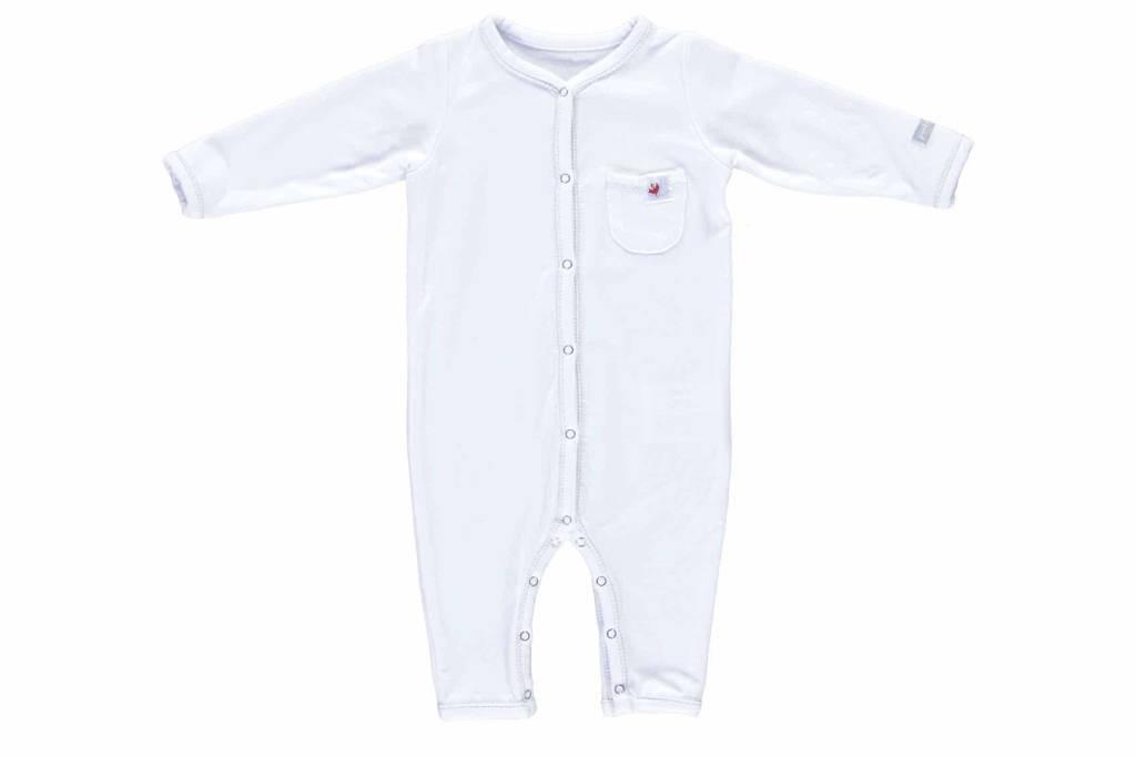 Puckababy   baby sleepsuit tencel 3-6 mnd, Wit