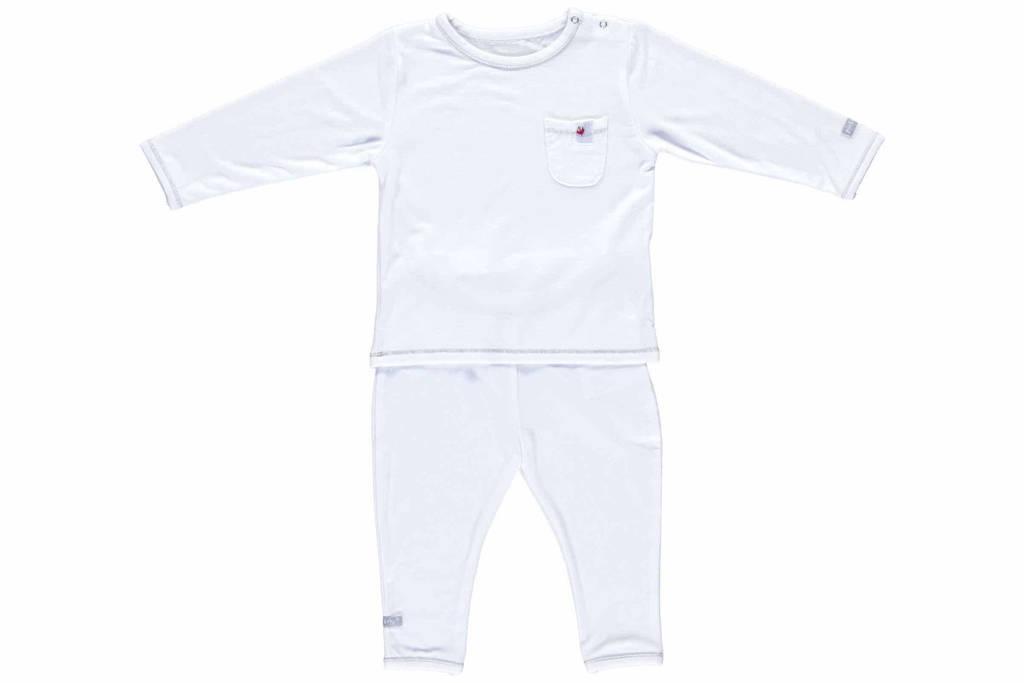 Puckababy   baby pyjama tencel 6-12 mnd, Wit
