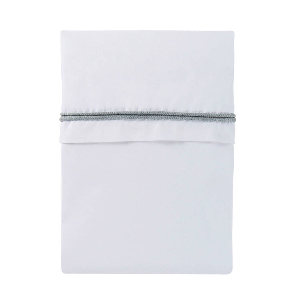 Baby's Only ledikantlaken 120x150 cm wit/licht grijs, Grijs/wit