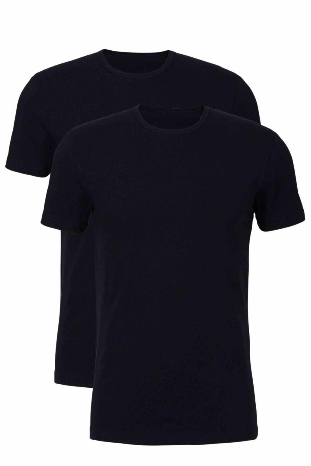 whkmp's own T-shirt (set van 2), Zwart