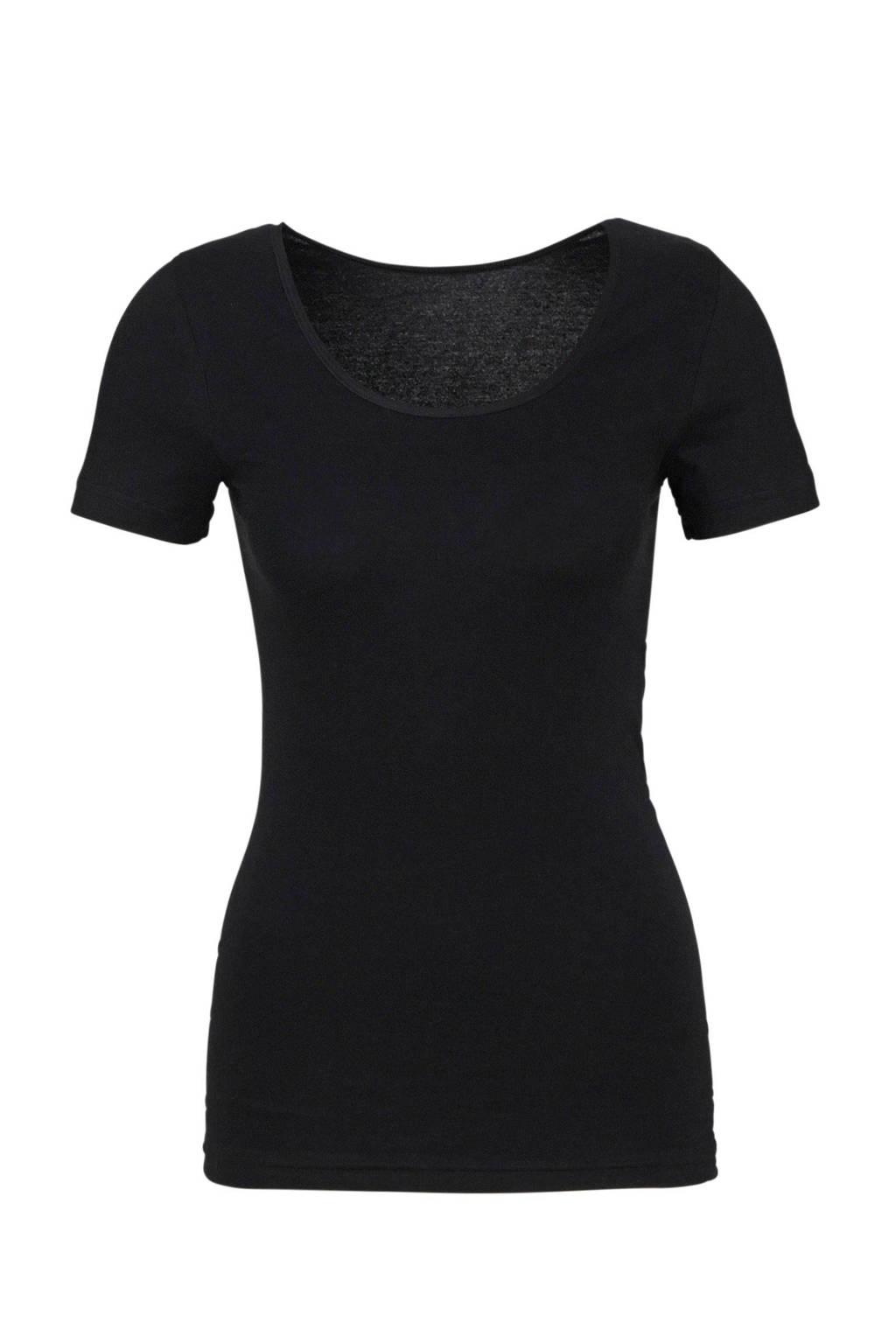whkmp's own ondershirt met ronde hals zwart, Zwart